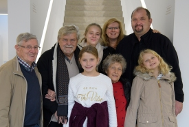 George Krause mit Familie in Heilbronn